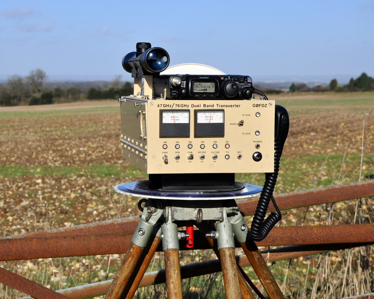 47GHz Amateur Radio Equipment, QSOs, Trophy and Video